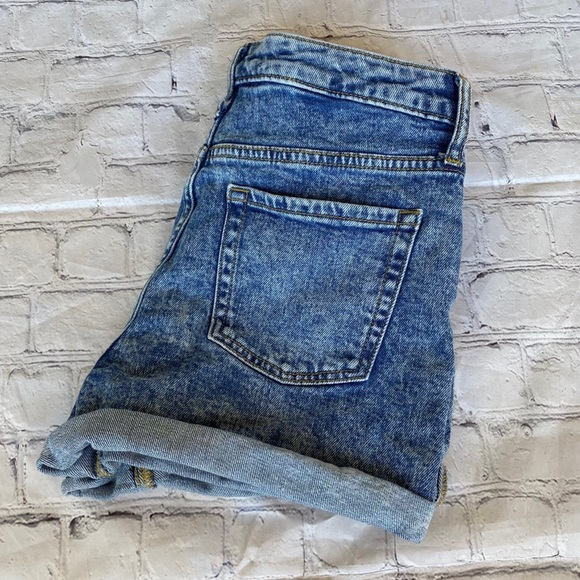 Wild Fable Acid Washed High Rise Jean Shorts